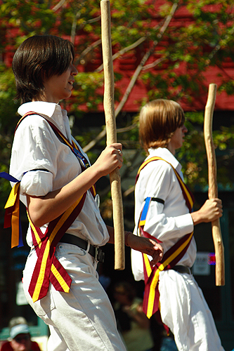 The Maroon Bells Morris Dancers - A couple of our teenaged dancers