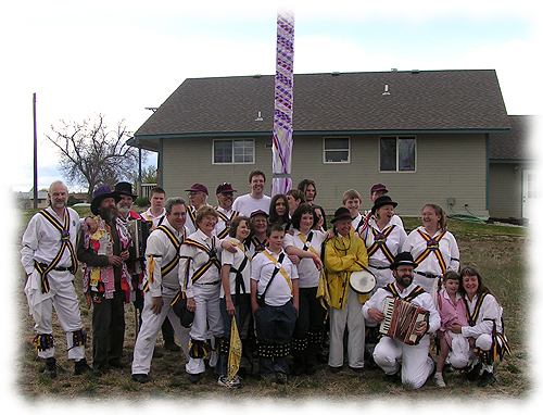 The Maroon Bells Morris Dancers after a Maypole dance on May Day 2006